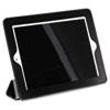 BUXOC269I22BK Magnetic Rollback iPad2 Cover, Pebbled Faux Leather, Black, Gray Interior BUX OC269I22BK