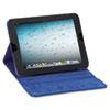 USLTCC222420 Tablet Case, For iPad 2 and 3, Black Vinyl, Blue Microsuede Lining, Snap Closure USL TCC222420