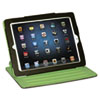 BUXOC218I18BR Faux Leather Swivel iPad2 Case, Brown, Green Felt Interior BUX OC218I18BR