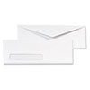 QUA90120B Window Envelope, Contemporary, #10, White, 1000/Box QUA 90120B