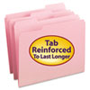 SMD12634 File Folders, 1/3 Cut, Reinforced Top Tab, Letter, Pink, 100/Box SMD 12634
