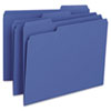 SMD13193 File Folders, 1/3 Cut Top Tab, Letter, Navy, 100/Box SMD 13193