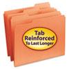 SMD12534 File Folders, 1/3 Cut, Reinforced Top Tab, Letter, Orange, 100/Box SMD 12534