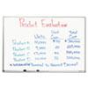 QRT75123 Dry Erase Board, Melamine Surface, 36 x 24, Aluminum Frame QRT 75123
