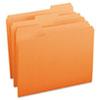 SMD12543 File Folders, 1/3 Cut Top Tab, Letter, Orange, 100/Box SMD 12543