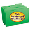 SMD17134 File Folders, 1/3 Cut, Reinforced Top Tab, Legal, Green, 100/Box SMD 17134