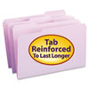 SMD17434 File Folders, 1/3 Cut, Reinforced Top Tab, Legal, Lavender, 100/Box SMD 17434