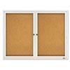 QRT2124 Enclosed Cork Bulletin Board, Natural Cork/Fiberboard, 40 1/4 x 30 QRT 2124