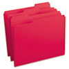 SMD12734 File Folders, 1/3 Cut, Reinforced Top Tab, Letter, Red, 100/Box SMD 12734