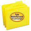 SMD12934 File Folders, 1/3 Cut, Reinforced Top Tab, Letter, Yellow, 100/Box SMD 12934