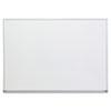 UNV43624 Dry Erase Board, Melamine, 48 x 36, Satin-Finished Aluminum Frame UNV 43624