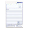 TOP3868 Snap-Off Job Work Order Form, 5 1/2 x 8 1/2, Three-Part Carbonless, 50 Forms TOP 3868