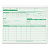 TOP3287 Employee Record File Folders, Straight Cut, Letter, 2-Sided, Green Ink, 20/Pack TOP 3287