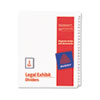 AVE01703 Allstate-Style Legal Side Tab Dividers, 25-Tab, 51-75, Letter, White, 25/Set AVE 01703