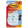 MMM17006CLR Clear Hooks and Strips, Plastic, Mini, 6 Hooks with 8 Adhesive Strips per Pack MMM 17006CLR