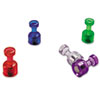 OIC92515 Push Pin Magnets, Assorted Translucent, 3/4