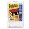 AVE05408 Print or Write Removable Multi-Use Labels, 3/4in dia, White, 1008/Pack AVE 05408