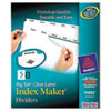 AVE11492 Index Maker with Big Tab, 11x8-1/2, 5-Tab, White, 5 Sets/Pack AVE 11492