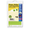AVE05468 Print or Write Removable Color-Coding Labels, 3/4in dia, Neon Green, 1008/Pack AVE 05468