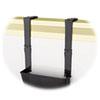 DEF3916104 Break-Resistant Plastic Partition Brackets w/Extension, 1 3/4 x 3, Black, 2/Set DEF 3916104