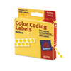 AVE05792 Permanent Self-Adhesive Color-Coding Labels, 1/4in dia, Yellow, 450/Pack AVE 05792