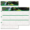 HOD394 Gardens of the World Reversible/Erasable Wall Calendar, 24 x 37, 2013 HOD 394