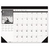 HOD1226 Black-and-White Photo Monthly Desk Pad Calendar, 18-1/2 x 13, 2013-2014 HOD 1226