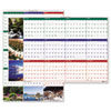House of Doolittle Earthscapes Nature Scenes Reversible/Erasable Yearly Wall Calendar