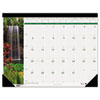 HOD1716 Waterfalls of the World Photographic Mthly Desk Pad Calendar, 18-1/2 x 13, 2013 HOD 1716