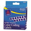 AVE05793 Permanent Self-Adhesive Color-Coding Labels, 1/4in dia, Dark Blue, 450/Pack AVE 05793