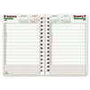 REDC21041T Blueline DuraGlobe Daily Planner, Hard Cover, 8 x 5, Black, 2013 RED C21041T