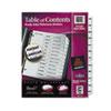 AVE11126 Ready Index Classic Tab Titles, 12-Tab, Jan-Dec, Letter, Black/White, 12/Set AVE 11126