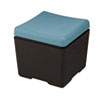 ICE64536 Otto File Ottoman, 18w x 18d x 17-1/4h, Aqua/Black ICE 64536