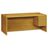 HON10785RCC 10700 Series Single 3/4-Right Pedestal Desk, 72w x 36d x 29-1/2h, Harvest HON 10785RCC