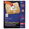 AVE5524 White Weatherproof Laser Shipping Labels, 3-1/3 x 4, 300/Pack AVE 5524