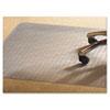 MPVV4660RMP PVC Chair Mat for Medium Pile Carpet, 46 x 60, No Lip, Clear MPV V4660RMP