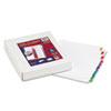 AVE11169 Ready Index Table/Contents Dividers, 10-Tab, 1-10, Letter, Assorted, 24 Sets/Box AVE 11169