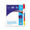 AVE11220 WorkSaver Big Tab Extrawide Dividers w/Five Multicolor Tabs, 9 x 11, White AVE 11220