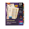 AVE11279 Ready Index Contents Dividers, 15-Tab, 1-15, Letter, Multicolor, 15/Set AVE 11279