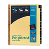 AVE11351 Gold Reinforced Leather Tab Dividers, 12-Tab, Jan-Dec, Letter, Black, 12/Set AVE 11351