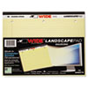 ROA95511 Landscape Format Writing Pad, College Ruled, 11 x 9-1/2, Canary, 75 Sheets/Pad ROA 95511