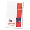 AVE11373 Avery-Style Legal Side Tab Divider, Title: 26-50, 14 x 8 1/2, White, 1 Set AVE 11373