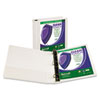 SAM16257 Clean Touch Locking D-Ring View Binder, 1-1/2