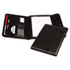SAM70890 Professional Tri-Fold Padfolio w/Calculator, Writing Pad, Vinyl, Black SAM 70890