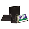 SAM14300 Clean Touch Antimicrobial Locking Round Ring Binder, 11 x 8-1/2, 5