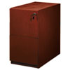 MLNPFF22C Luminary Series Wood Veneer File/File Pedestal, 15w x 22d x 27-3/4h, Cherry MLN PFF22C