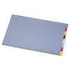 CRD84251 Tabloid-Size Poly Index Divider, 8-Tab, Assorted Colors CRD 84251