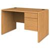 HON107885RCC 10700 Series Single 3/4-Right Pedestal Desk, 48w x 30d x 29-1/2h, Harvest HON 107885RCC