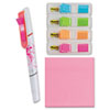 MMM683VAD3 Combo Pack, Super Sticky Notes, Electric Glow Flags, Flag + Highlighter and Pen MMM 683VAD3