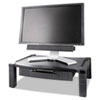 KTKMS520 Wide Two-Level Stand with Drawer, Height-Adjustable, 20 x 13 1/4, Black KTK MS520